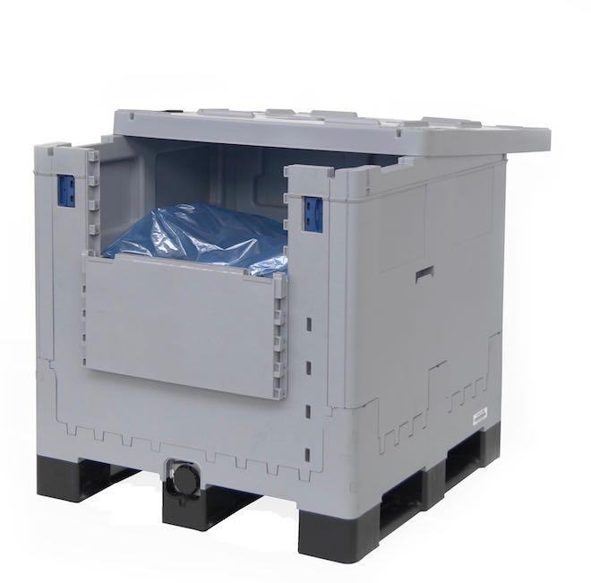 újrahasznosítható 1000 literes tartály